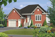 European Style House Plan - 3 Beds 2 Baths 2417 Sq/Ft Plan #25-4518 Exterior - Front Elevation