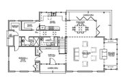Farmhouse Style House Plan - 4 Beds 3 Baths 3291 Sq/Ft Plan #485-4 Floor Plan - Main Floor Plan