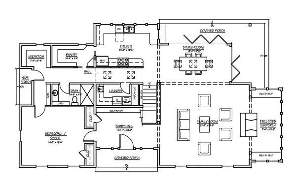 Farmhouse Floor Plan - Main Floor Plan Plan #485-4