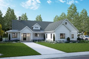 House Design - Farmhouse Exterior - Front Elevation Plan #928-361