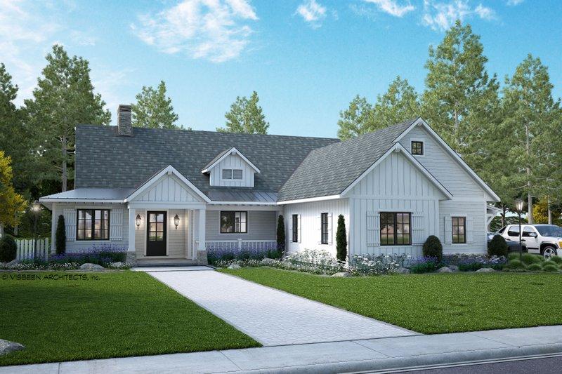 Dream House Plan - Farmhouse Exterior - Front Elevation Plan #928-361