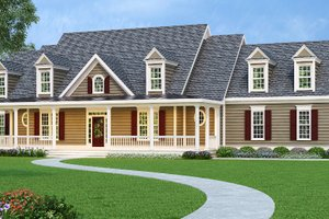 House Design - Country Exterior - Front Elevation Plan #419-108