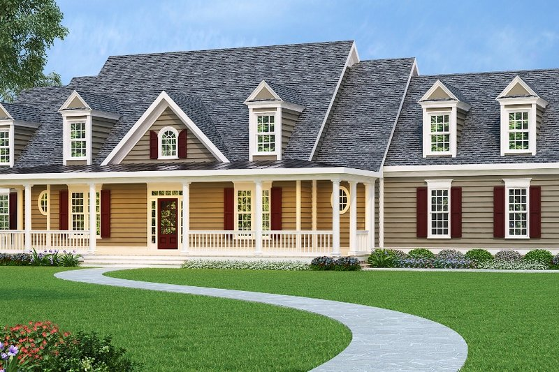 Architectural House Design - Country Exterior - Front Elevation Plan #419-108