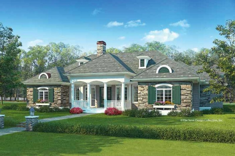 Ranch Exterior - Front Elevation Plan #930-245