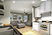 Traditional Style House Plan - 2 Beds 1 Baths 890 Sq/Ft Plan #44-223 Interior - Kitchen
