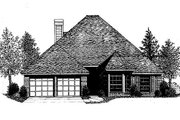 European Style House Plan - 4 Beds 2 Baths 1869 Sq/Ft Plan #310-773 Exterior - Front Elevation