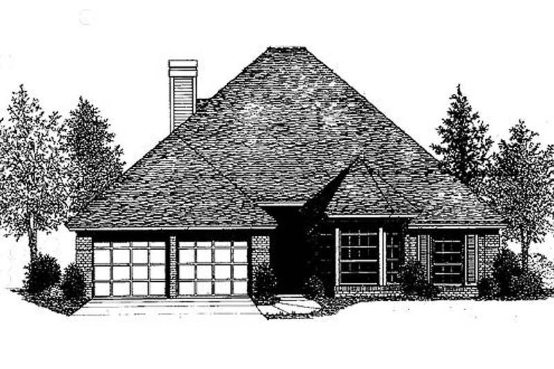 European Exterior - Front Elevation Plan #310-773