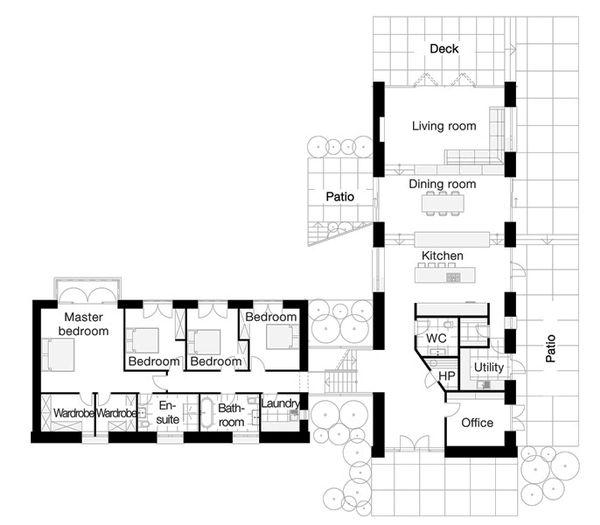 European Floor Plan - Main Floor Plan Plan #520-10