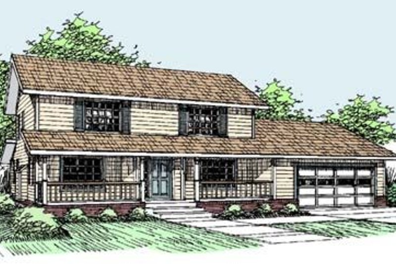 Traditional Exterior - Front Elevation Plan #60-289 - Houseplans.com
