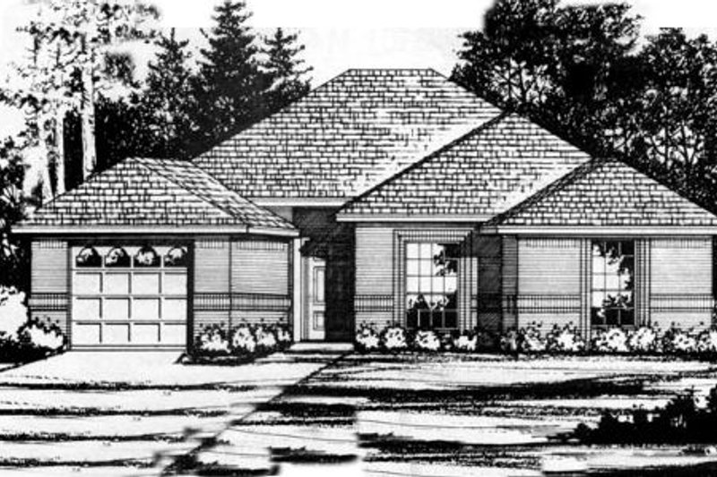 Traditional Exterior - Front Elevation Plan #40-282 - Houseplans.com