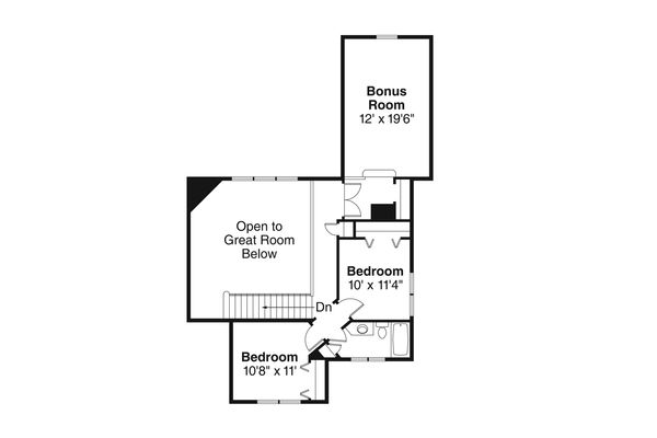 Country Floor Plan - Upper Floor Plan Plan #124-1022