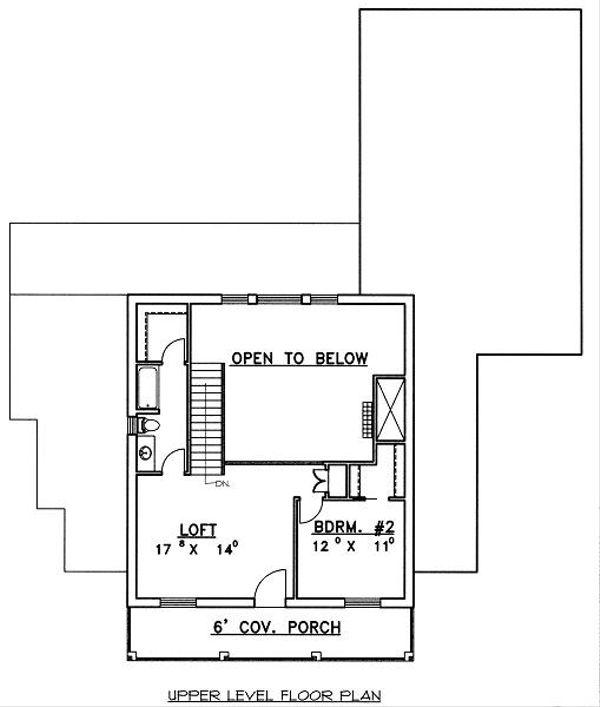 European Floor Plan - Upper Floor Plan Plan #117-520