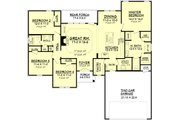 Traditional Style House Plan - 4 Beds 2 Baths 1798 Sq/Ft Plan #430-93 Floor Plan - Main Floor Plan