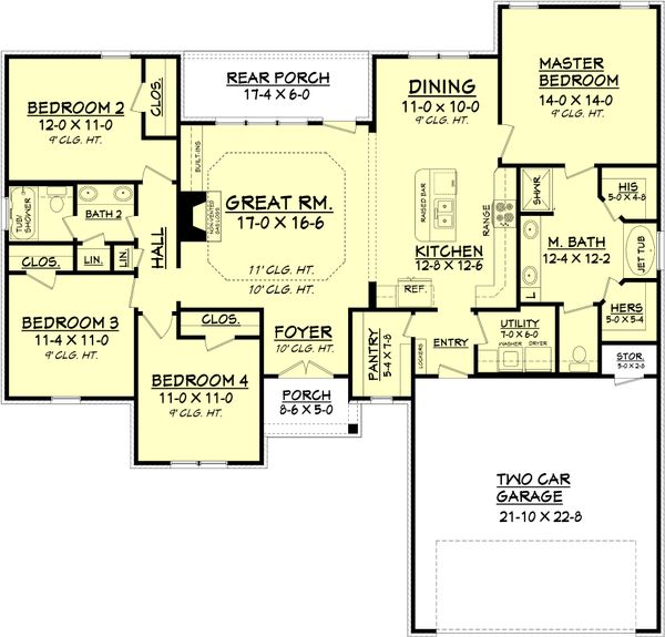 Traditional Floor Plan - Main Floor Plan Plan #430-93