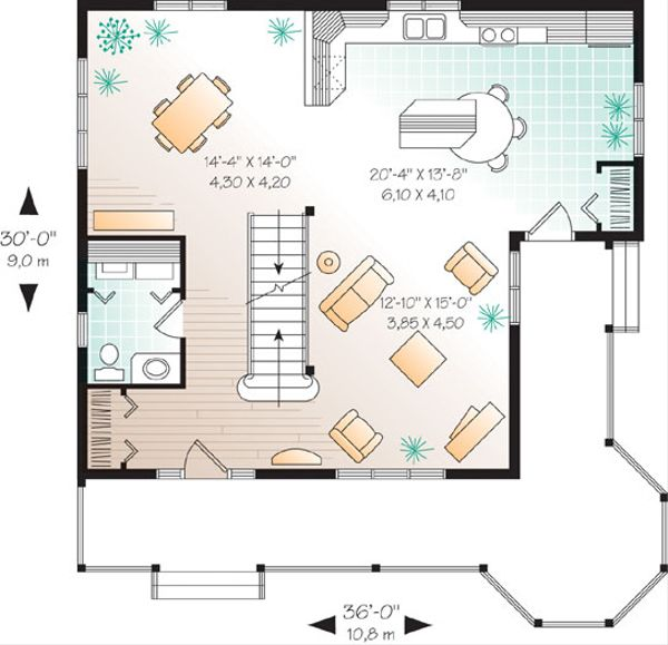 Farmhouse Floor Plan - Main Floor Plan Plan #23-2170
