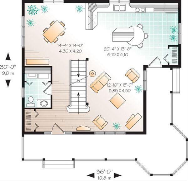 Dream House Plan - Farmhouse Floor Plan - Main Floor Plan #23-2170