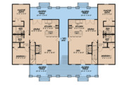 Craftsman Style House Plan - 4 Beds 3 Baths 1595 Sq/Ft Plan #923-123 Floor Plan - Main Floor