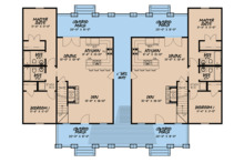 Craftsman Floor Plan - Main Floor Plan Plan #923-123