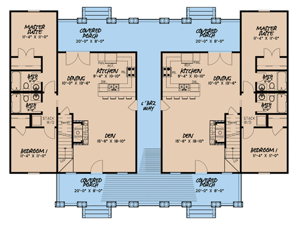 Craftsman Floor Plan - Main Floor Plan Plan #923-123