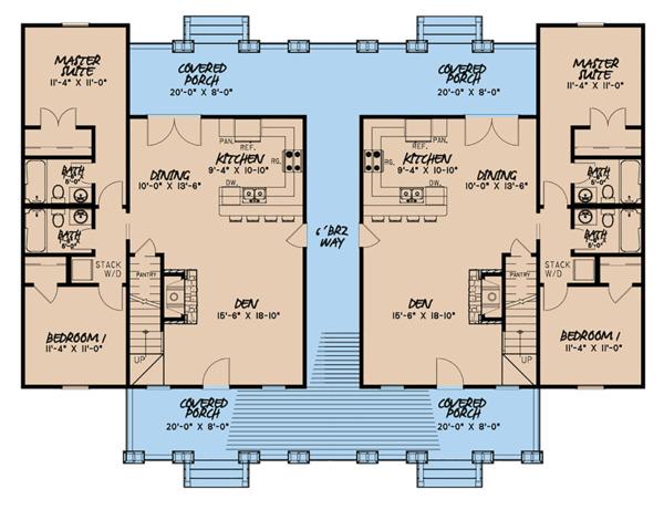 Home Plan - Craftsman Floor Plan - Main Floor Plan #923-123