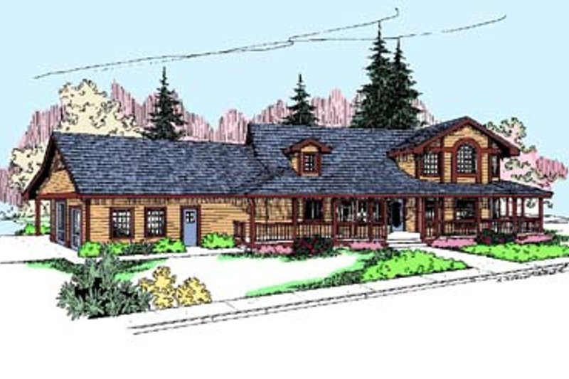 Traditional Exterior - Front Elevation Plan #60-525 - Houseplans.com
