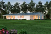 Ranch Style House Plan - 3 Beds 3.5 Baths 3478 Sq/Ft Plan #888-9 Exterior - Rear Elevation