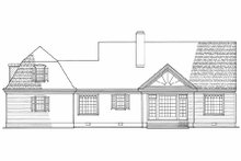 Country Exterior - Rear Elevation Plan #137-109