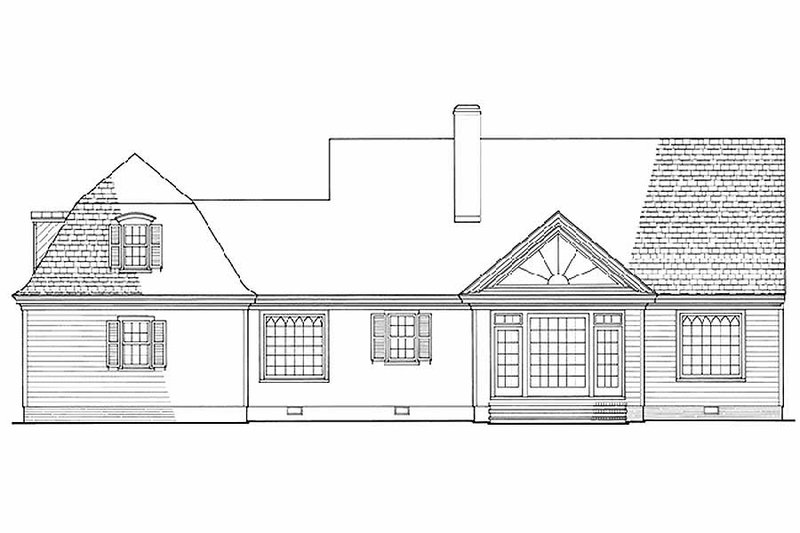 Country Exterior - Rear Elevation Plan #137-109 - Houseplans.com