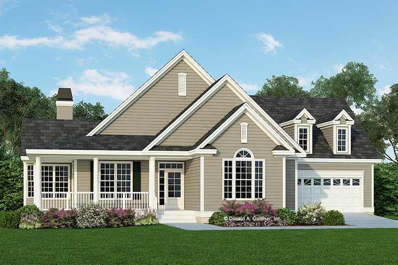 Country Exterior - Front Elevation Plan #929-623