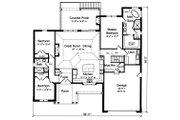 Ranch Style House Plan - 3 Beds 2 Baths 1955 Sq/Ft Plan #46-888 Floor Plan - Main Floor Plan