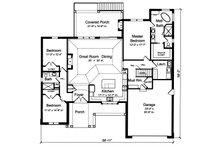 Ranch Floor Plan - Main Floor Plan Plan #46-888
