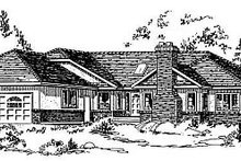 House Blueprint - Traditional Exterior - Front Elevation Plan #18-103