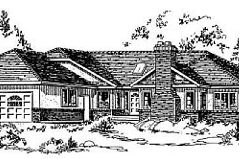Traditional Exterior - Front Elevation Plan #18-103 - Houseplans.com