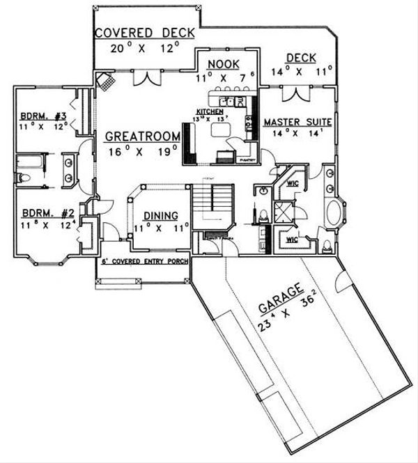 Country Floor Plan - Main Floor Plan Plan #117-572