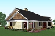 Craftsman Style House Plan - 3 Beds 2 Baths 1999 Sq/Ft Plan #51-513 Exterior - Rear Elevation