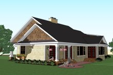 House Plan Design - Craftsman Exterior - Rear Elevation Plan #51-513