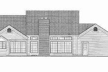 Ranch Exterior - Rear Elevation Plan #72-340