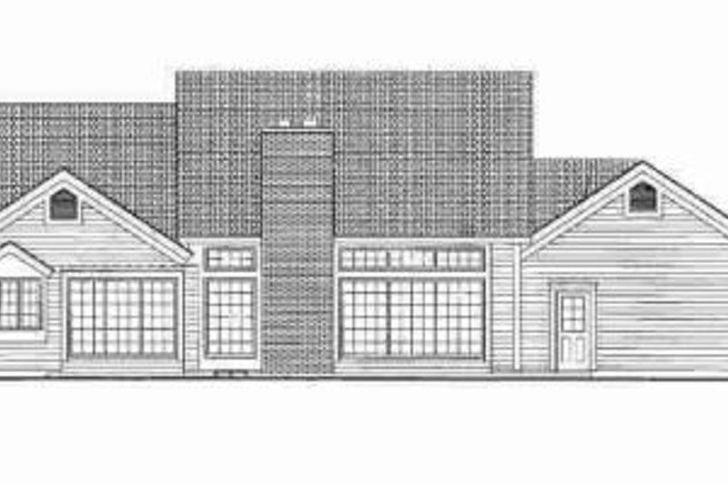 Ranch Exterior - Rear Elevation Plan #72-340 - Houseplans.com