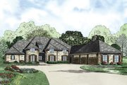 European Style House Plan - 4 Beds 3.5 Baths 4810 Sq/Ft Plan #17-2387 Exterior - Front Elevation