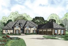European Exterior - Front Elevation Plan #17-2387