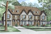 European Style House Plan - 2 Beds 2.5 Baths 1602 Sq/Ft Plan #17-2528 Exterior - Other Elevation