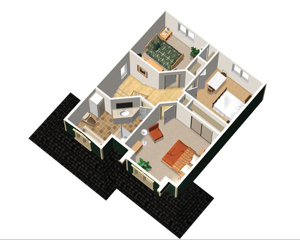 Country Floor Plan - Upper Floor Plan Plan #25-4475