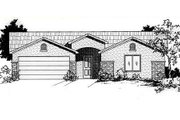 Adobe / Southwestern Style House Plan - 4 Beds 2 Baths 1500 Sq/Ft Plan #24-211 Exterior - Front Elevation