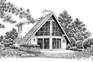Exterior - Front Elevation Plan #12-124