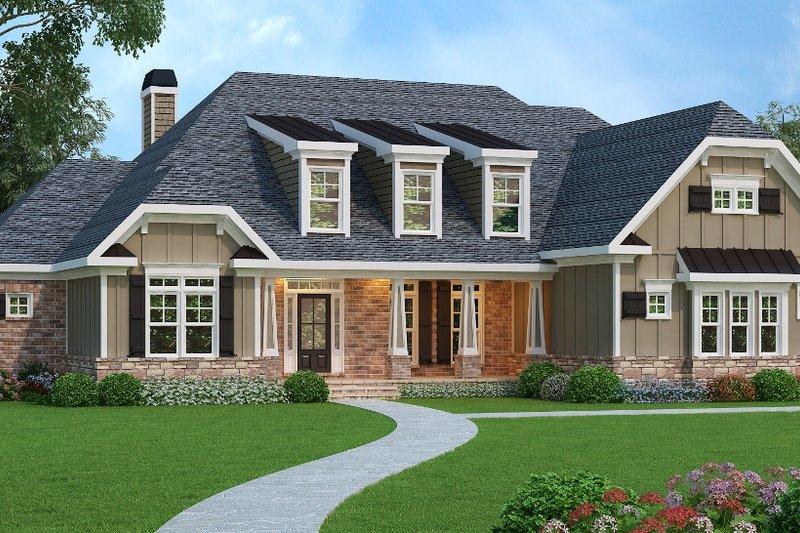 Craftsman Exterior - Front Elevation Plan #419-132 - Houseplans.com