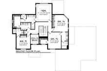 Craftsman Floor Plan - Upper Floor Plan Plan #70-1062