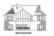 Farmhouse Style House Plan - 4 Beds 4 Baths 3016 Sq/Ft Plan #17-2311 Exterior - Rear Elevation