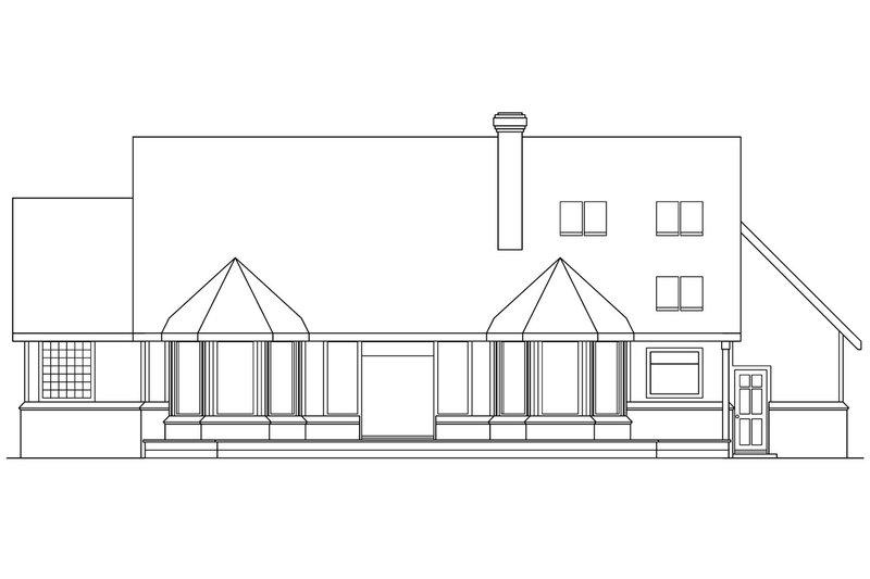 Farmhouse Exterior - Rear Elevation Plan #124-187 - Houseplans.com