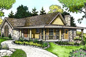 Country Exterior - Front Elevation Plan #140-116