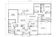 European Style House Plan - 4 Beds 2.5 Baths 2444 Sq/Ft Plan #17-139 Floor Plan - Main Floor Plan